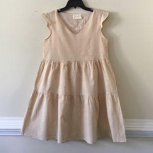 Yumi Kim linen ivory cream dress